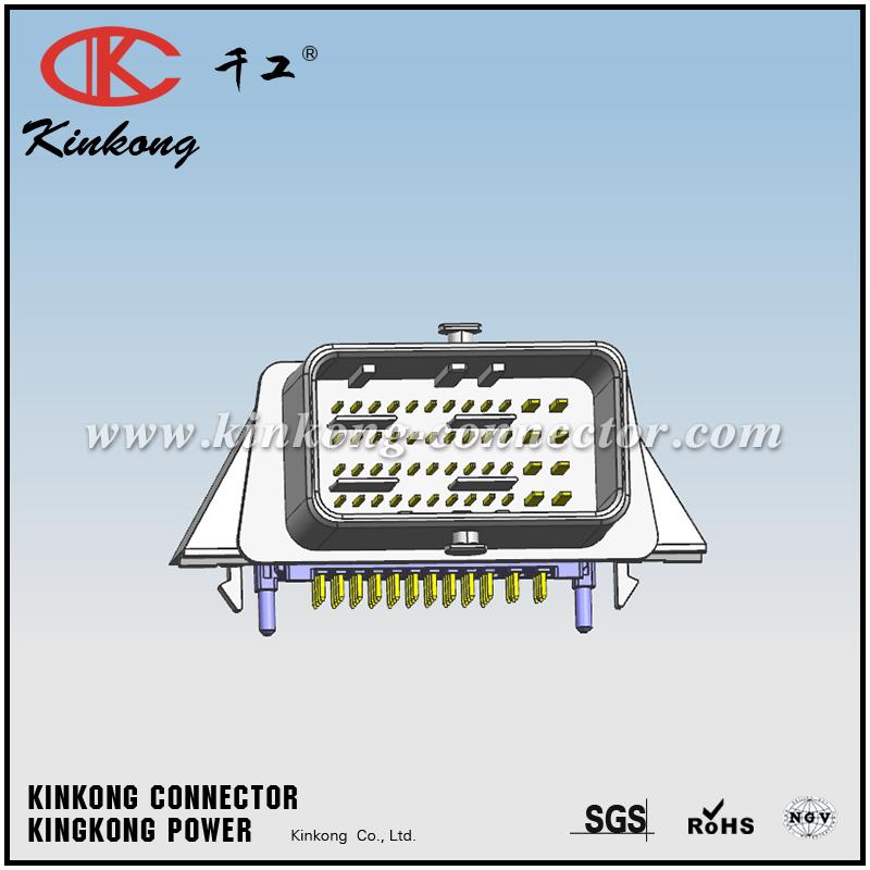 Firewall connector 48 pins med flange - Incl. stikben (HAN)